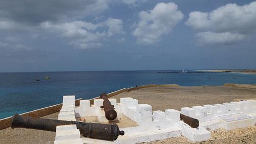 Das kanonenbestückten Fort aus dem 18. Jahrhundert.