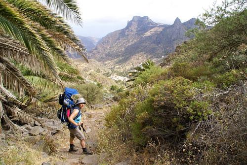 Abstieg nach Alajeró
