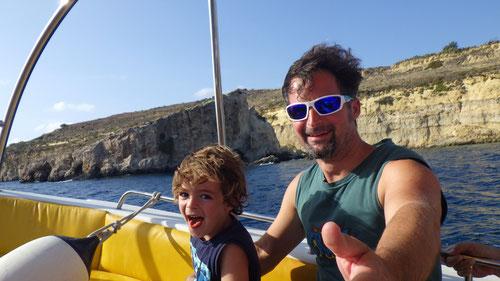 Fahrt auf dem Schnellboot-Taxi