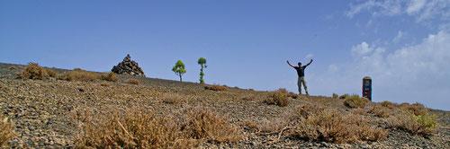 Auf dem Pico de Malpaso. Mit seinen 1500 Metern der höchste Punkt auf El Hierro