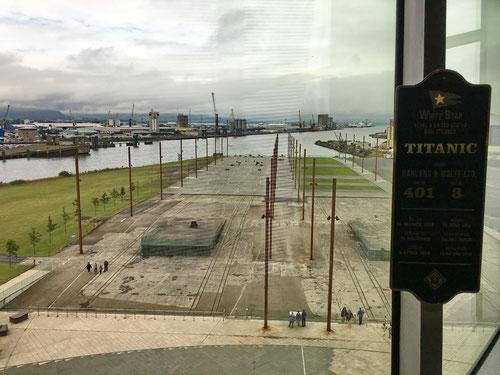 An diesem Platz wurde die Titanic erbaut.