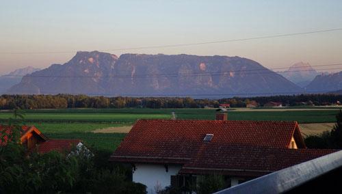 Der Untersberg von Surheim aus gesehen.
