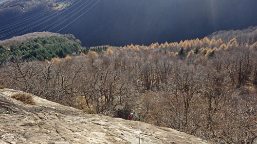 Klettern über dem Kastanienwald.