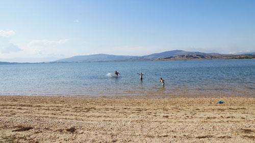 Baden im Ebro Stausee.