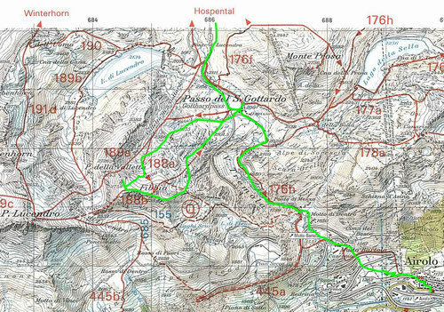Route Hospental - Airolo