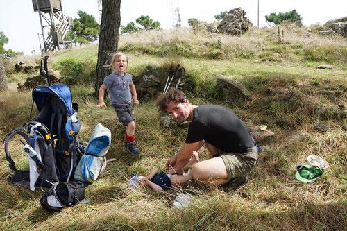 Wickelpause auf dem Monte Perone
