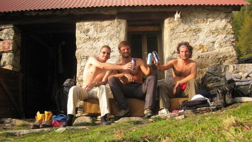 Alpe di Peu - selbst getragenes Bier schmeckt umso besser!