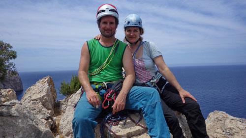 Am Ausstieg des höchsten Punktes der Punta de Aguila.