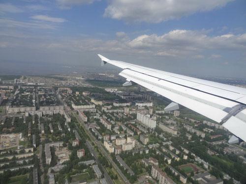 Anflug auf Sankt Petersburg
