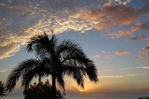 …mit Blick auf die herrlichen Sonnenuntergänge.