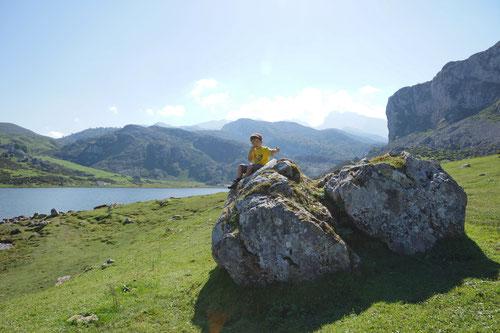 Am Lago de la Ercina.