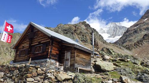 08/2019: Bietschhornhütte mit Bietschhorn (VS/CH)