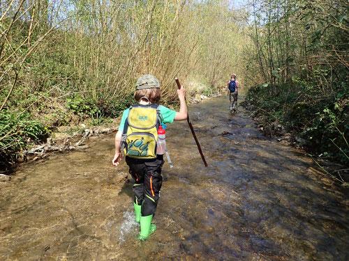 2020/04: Flusswanderung Orisbach (CH/BL)