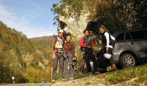 Dominik, Melanie, Olli & Tanja rüsten sich für den Grat