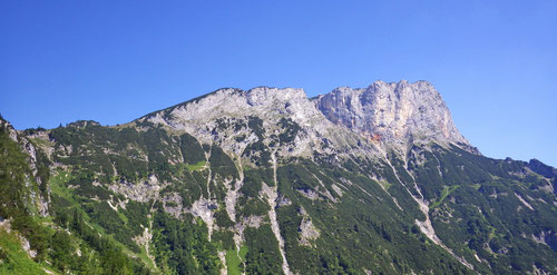 Blick zurück auf das Untersbergmassiv