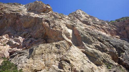 Der Kletterspot Cala Na Xamena.