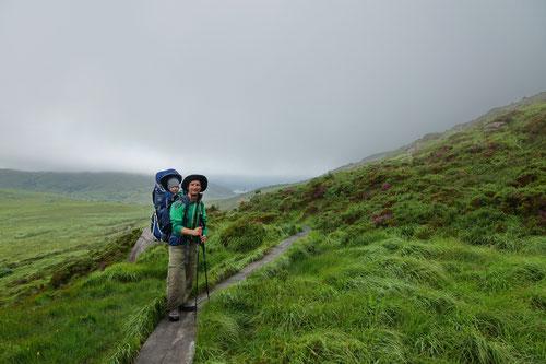 Auf dem Weg zum Torc Mountain