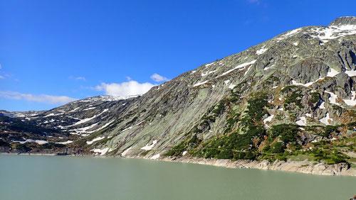 Unser Ziel: Die Seeplatten auf der Westseite des Räterichsbodensees.