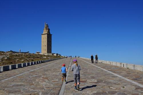 La Coruña: Auf dem Weg zum Herkulesturm.