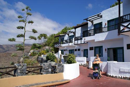 Die schöne Hotelanlage des Jardin Tropical Tecina