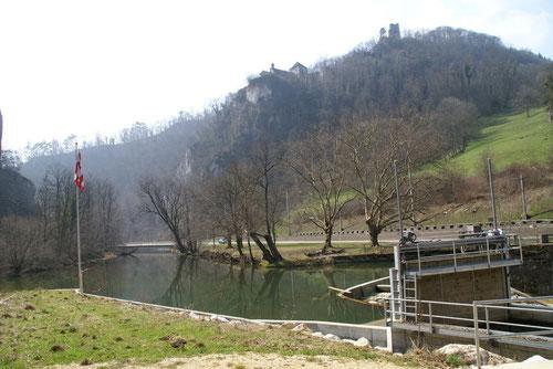 Eine weitere Schleuse bei Le Vorbourg (kurz vor Delémont)