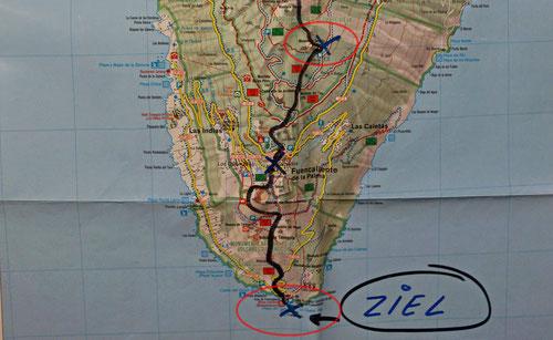 Etappe 6: Los Canarios – Faro de Fuencaliente, 3h, TELO