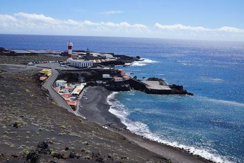Unser Endziel in Sichtweite: Der Faro de Fuencaliente