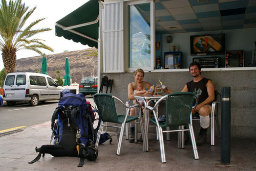 Playa de Santiago - Am Ziel! Darauf wird angestossen.