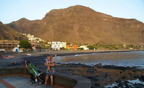 Die übersichtliche Bucht von La Playa in Valle Grand Rey