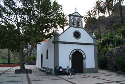 Die erste Pause bei der Ermitage de los Reys