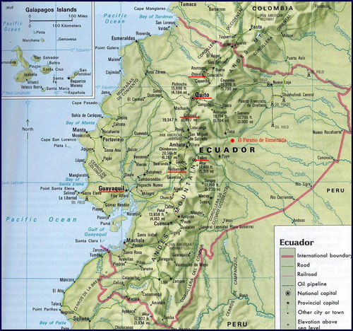 Rot unterstrichen die Hauptorte, welche wir besuchten.