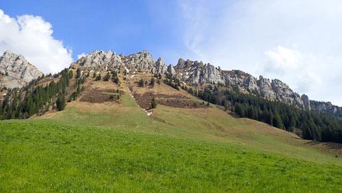 Blick auf die skurrilen Felswände und Formationen.