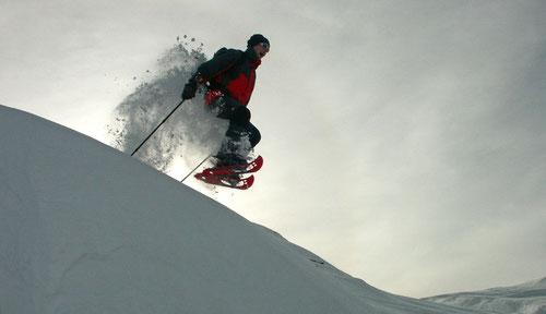 Schneeschuhen kann Spass machen!