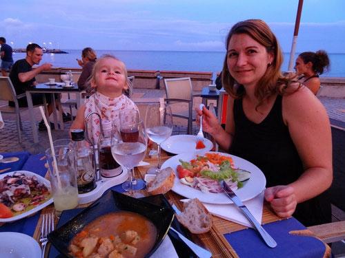 Abendessen im Maré alta
