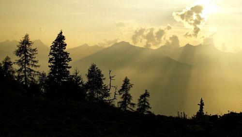 Abendstimmung auf der Alpe di Peu