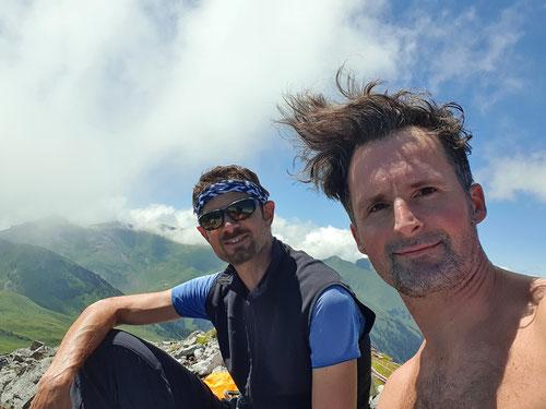 Auf dem Gipfel des Tierlaufhorns 2'242m