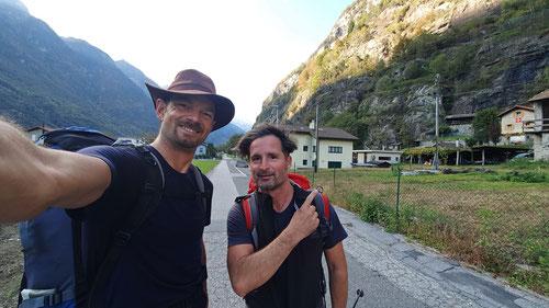 In Pollegio am Talboden angekommen. Yes, we did it!