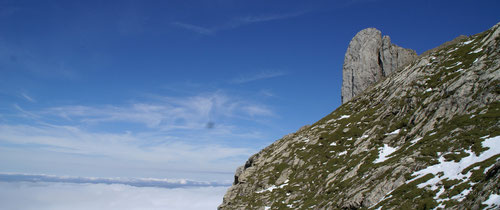 Das Öhrli oberhalb des Nebelmeers