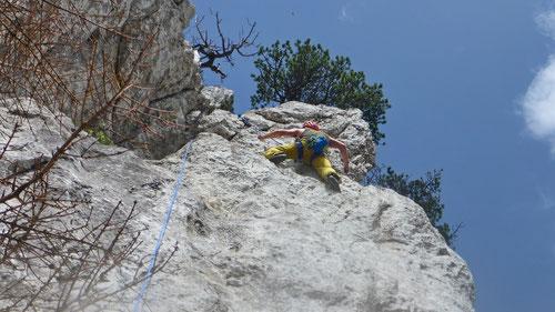 2020/05: Unterwegs im Klettermekka Aiguilles de Baulmes (CH/VD).