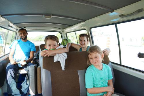 Vanito unser Guide im Aluguer von Nene. Zusammen waren wir den ganzen Tag unterwegs.