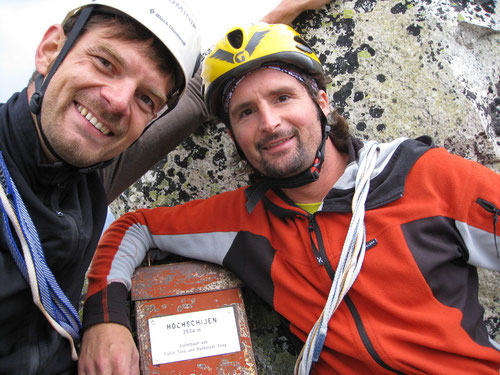 Auf dem Gipfel des Hochschijen (2634m)