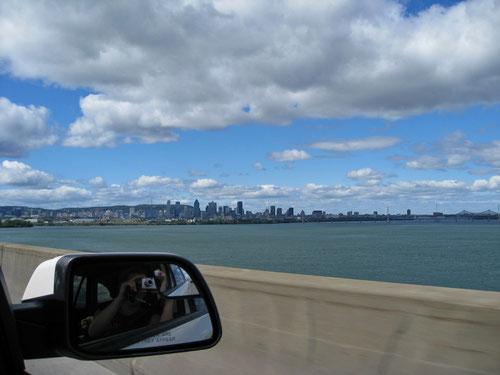 Ein letzter Blick auf Montreal. Auf dem Weg zum Flughafen.