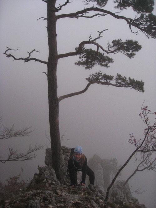 Die Kletterfrau die aus dem Nebel kam