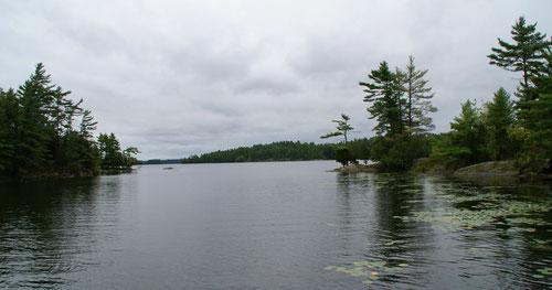 Einer der zahlreichen Seen am Rallow Rock Bay Loop Trail