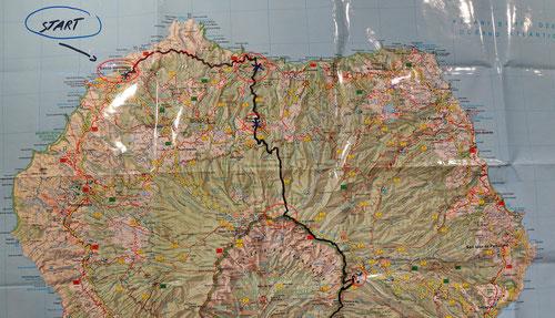 Etappe 2: Roque Faro – Pico de la Cruz, Der Aufstieg zur Cumbre-Höhenstrasse, 1'350hm, 5h, LO