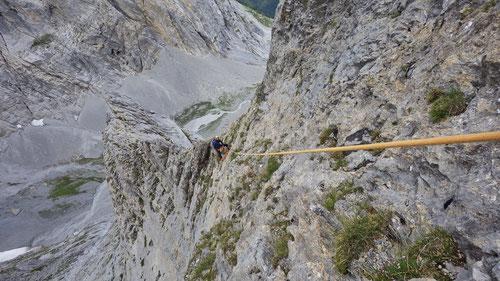 Ausgesetzte, alpine Kletterei :-)