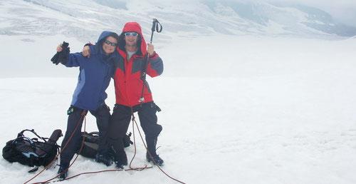 Spass auf dem Gletscher!