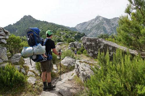 Unser Tagesziel, der Monte Capanne rückt in Sichtweite