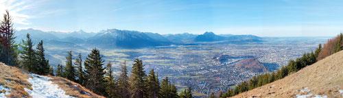 Panoramabild von Wikipedia: Blick auf Salzburg