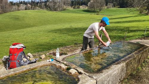 Wasserfassung in Rebévelier